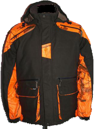 VESTE GRIZZLY VERTE ET CAMO ORANGE