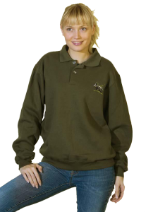 SWEAT-SHIRTS BRODES COL POLO